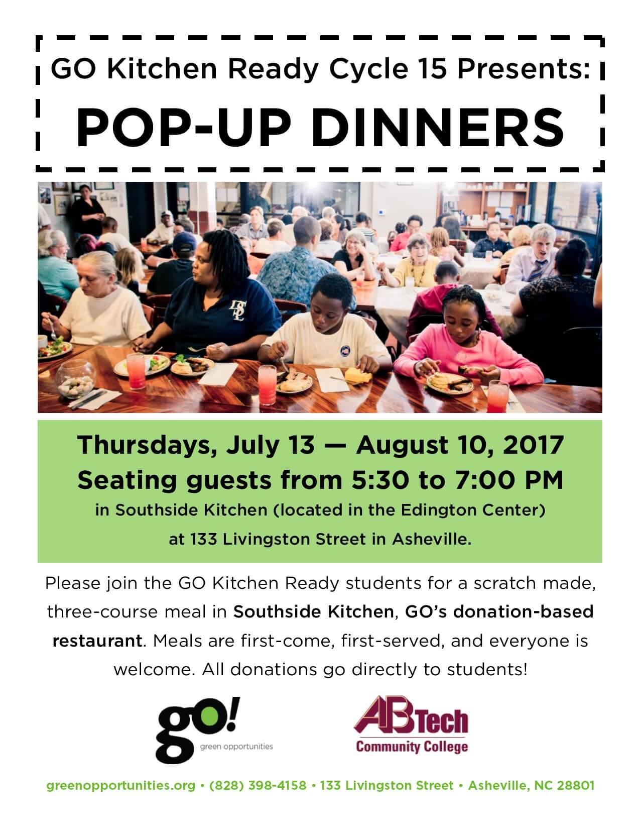 Green Opportunities Weekly Pop Up Dinners In Southside Kitchen Return July 13